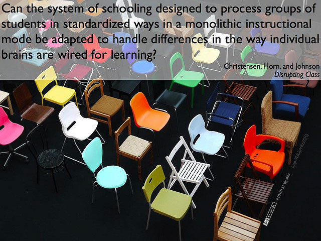 Can the system of schooling designed to process groups of students in standardized ways in a monolithic instructional mode be adapted to handle differences in the way individual brains are wired for learning?