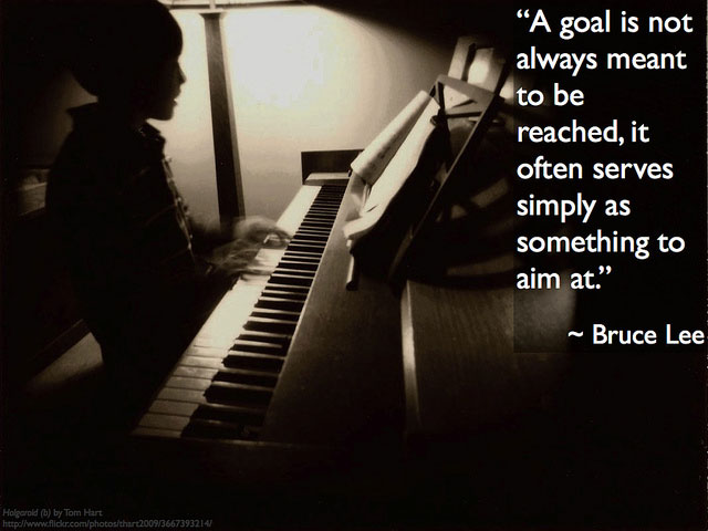 Set Goals by Bruce Lee