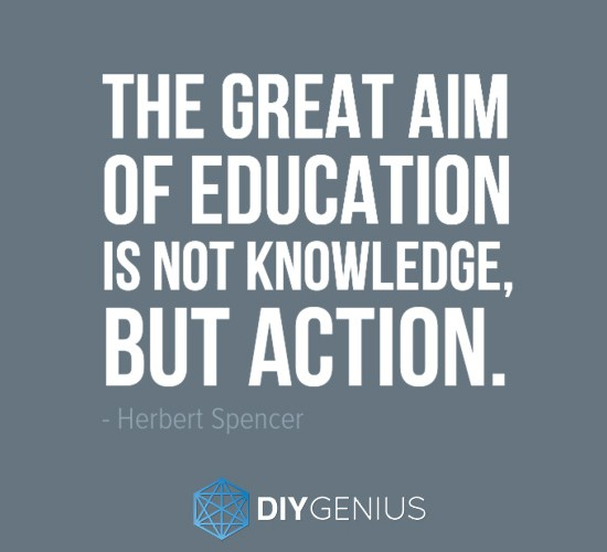 The Great Aim of Education Herbert Spencer Quote