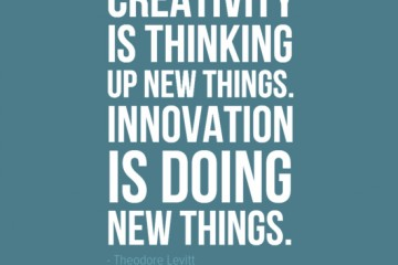 Innovation Is Doing New Things Theodore Levitt Quote
