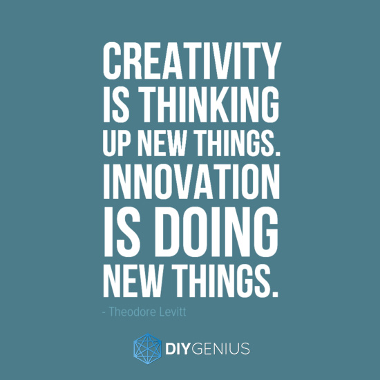 Quotes On Innovation Delectable Innovation Is Doing New Things Theodore Levitt  Diy Genius