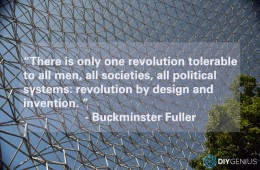 Revolution by Design and Invention (Buckminster Fuller Quote)