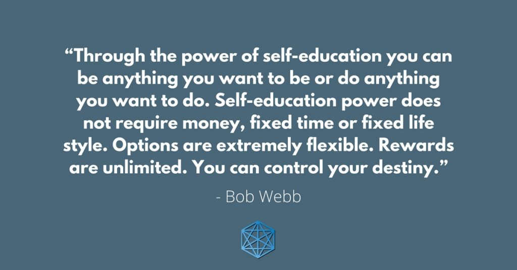Control Your Destiny With Self-Education Quote