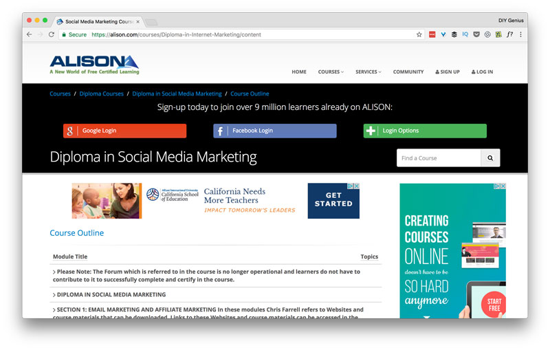 Social Media Marketing Diploma