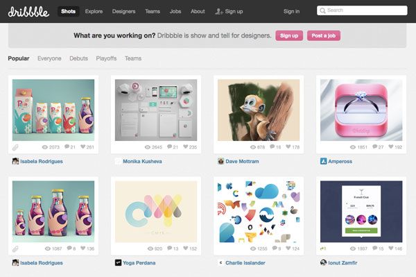 Dribbble Design Community