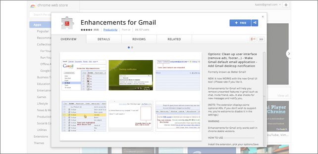 Enhancements for Gmail
