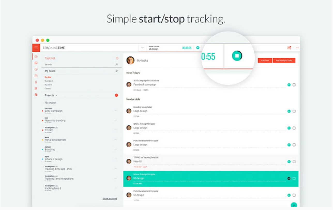 Time Tracking Chrome Extension