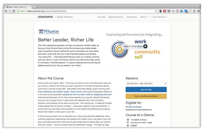 Better Leader, Richer Life MOOC