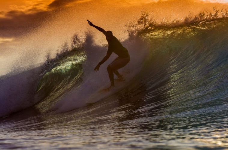 Mindfulness and Flow (Surfer)