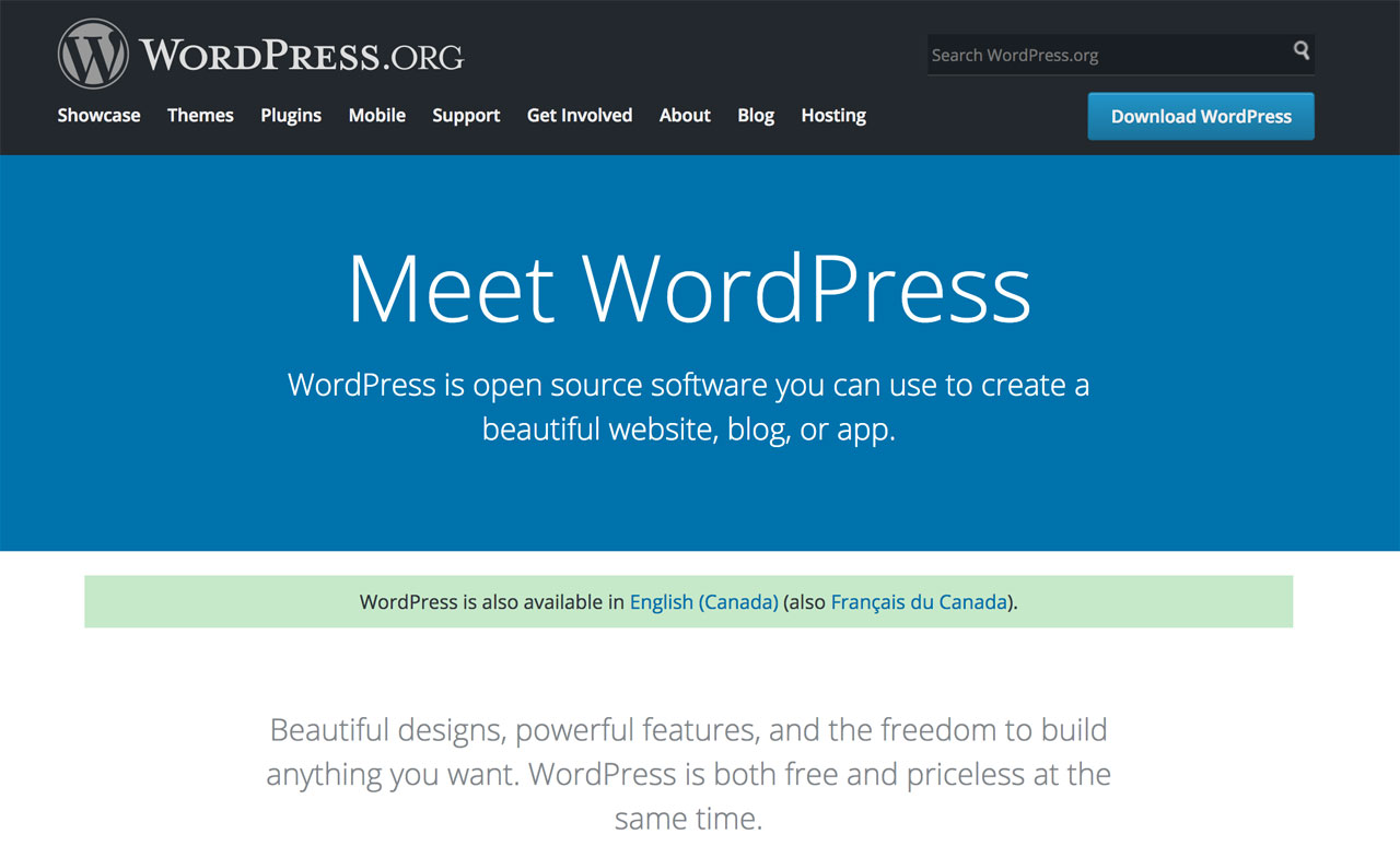 Wordpress Open Source CMS
