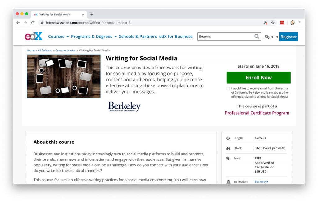 10 Free Online Courses For Learning Social Media Marketing
