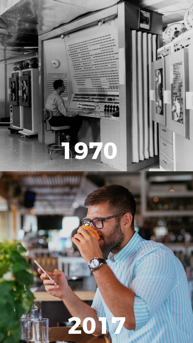 Technology is amazing! The progress of technological innovation in computers 1970 vs 2017