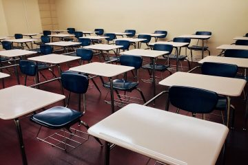 Schools Perfect Rows of Desk Chairs