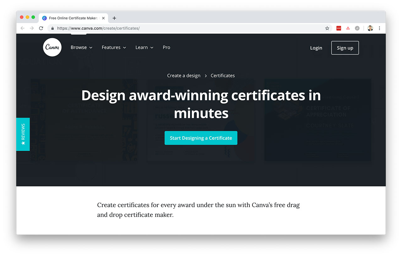Canva Course Certificates