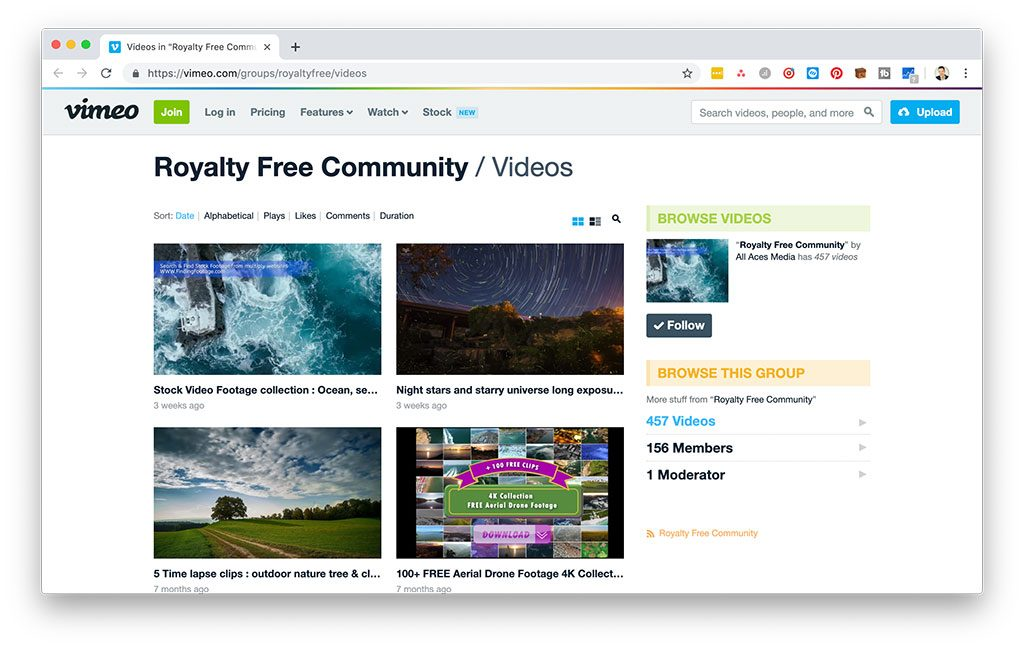 Vimeo Royalty Free