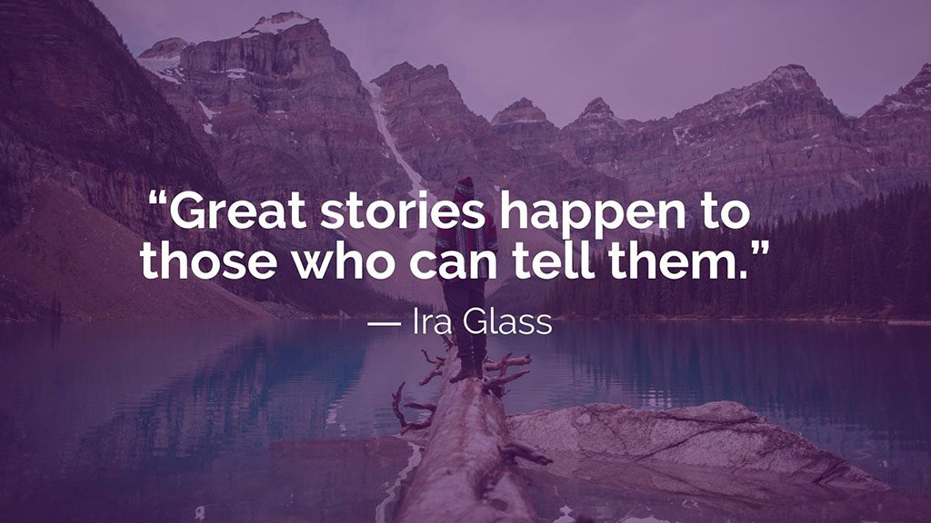 Ira Glass Great Stories Quote