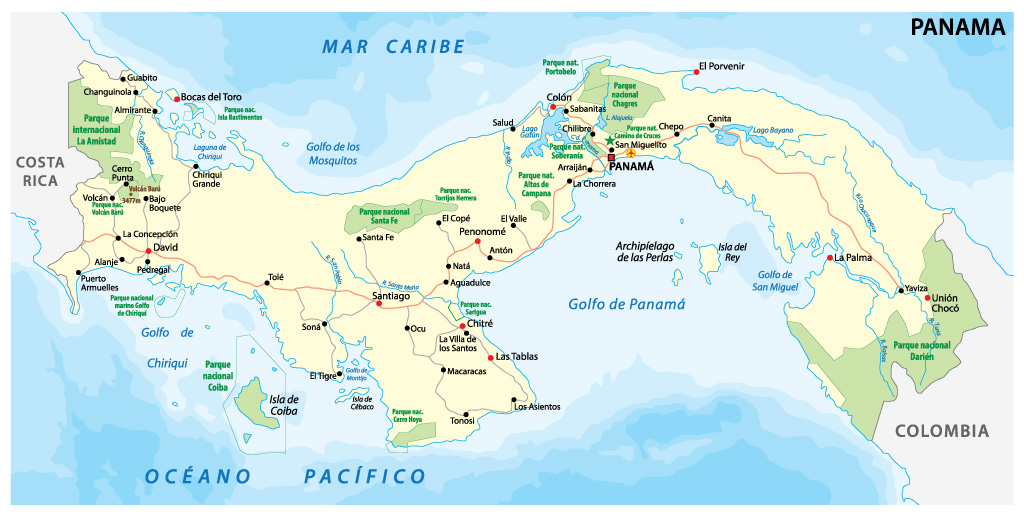 Map of Panama's National Parks