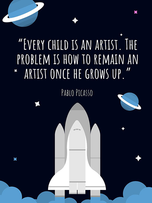 Pablo Picasso Child Artist Quote