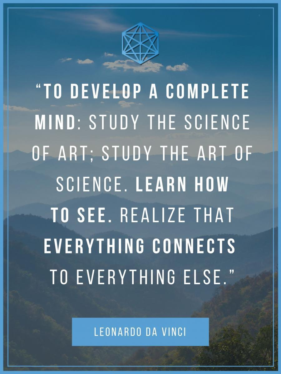 Da Vinci Complete Mind Holistic Learning Quote