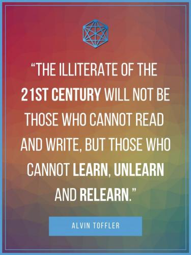 Alvin Toffler 21st Century Learning Quote Poster