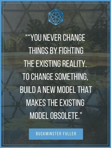 Buckminster Fuller New Model Quote Poster