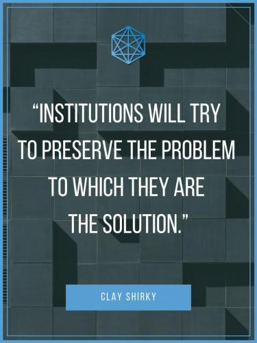 Clay Shirky Institionialized Thinking Quote Poster