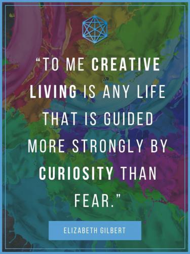 Creative Living Elizabeth Gilbert Quote Poster
