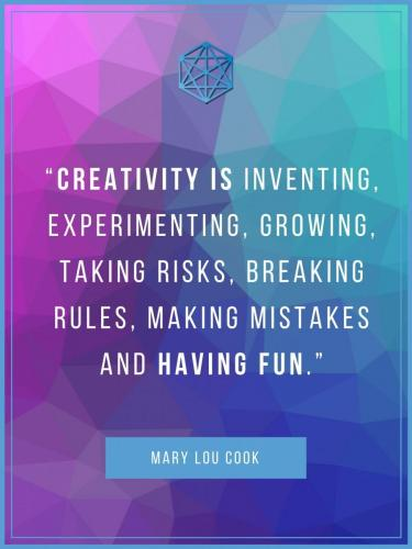 Creativity Is Having Fun Quote Poster