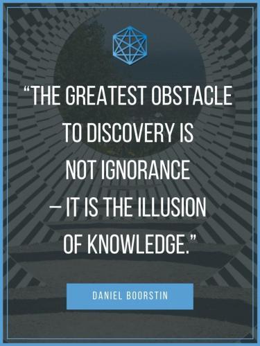 Daniel Boorstin Illusion of Knowledge Quote Poster