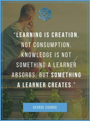 George Couros Learning Is Creation Quote Poster