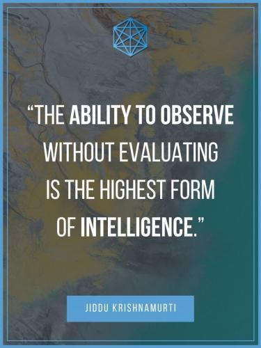 Krishnamurti Intelligence Quote Poster