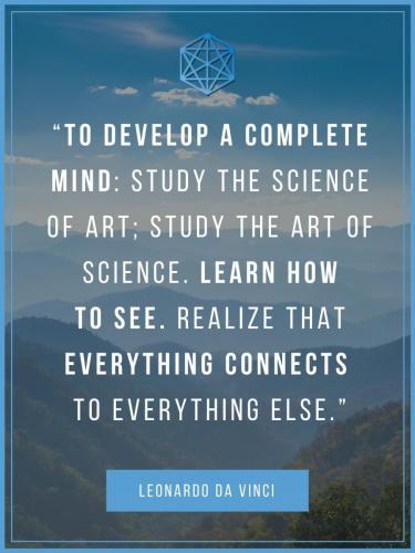 Leonardo Da Vinci Complete Mind Holistic Learning Quote Poster