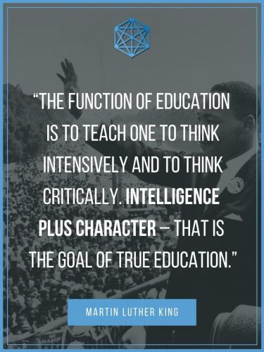 Martin Luther King Education Quote Poster
