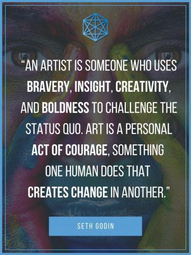 Seth Godin Artist Quote Post